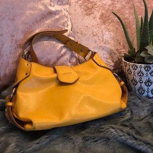 Yellow Leather Matt & Nat Purse